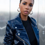 Veste biker noire vegan femme