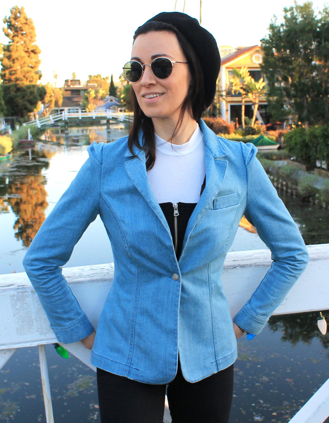 Blazer en jeans biologique
