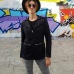 veste de costume femme coton biologique