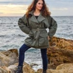 Image portée de la veste en coton biologique Meryl